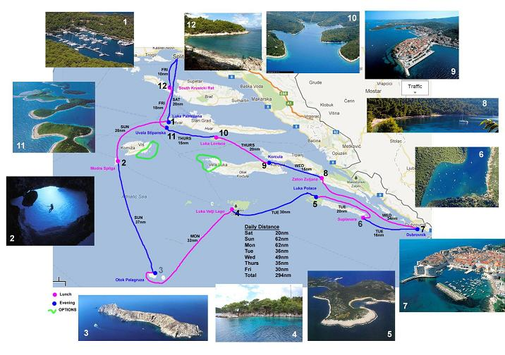 Croatia trip passage planning image