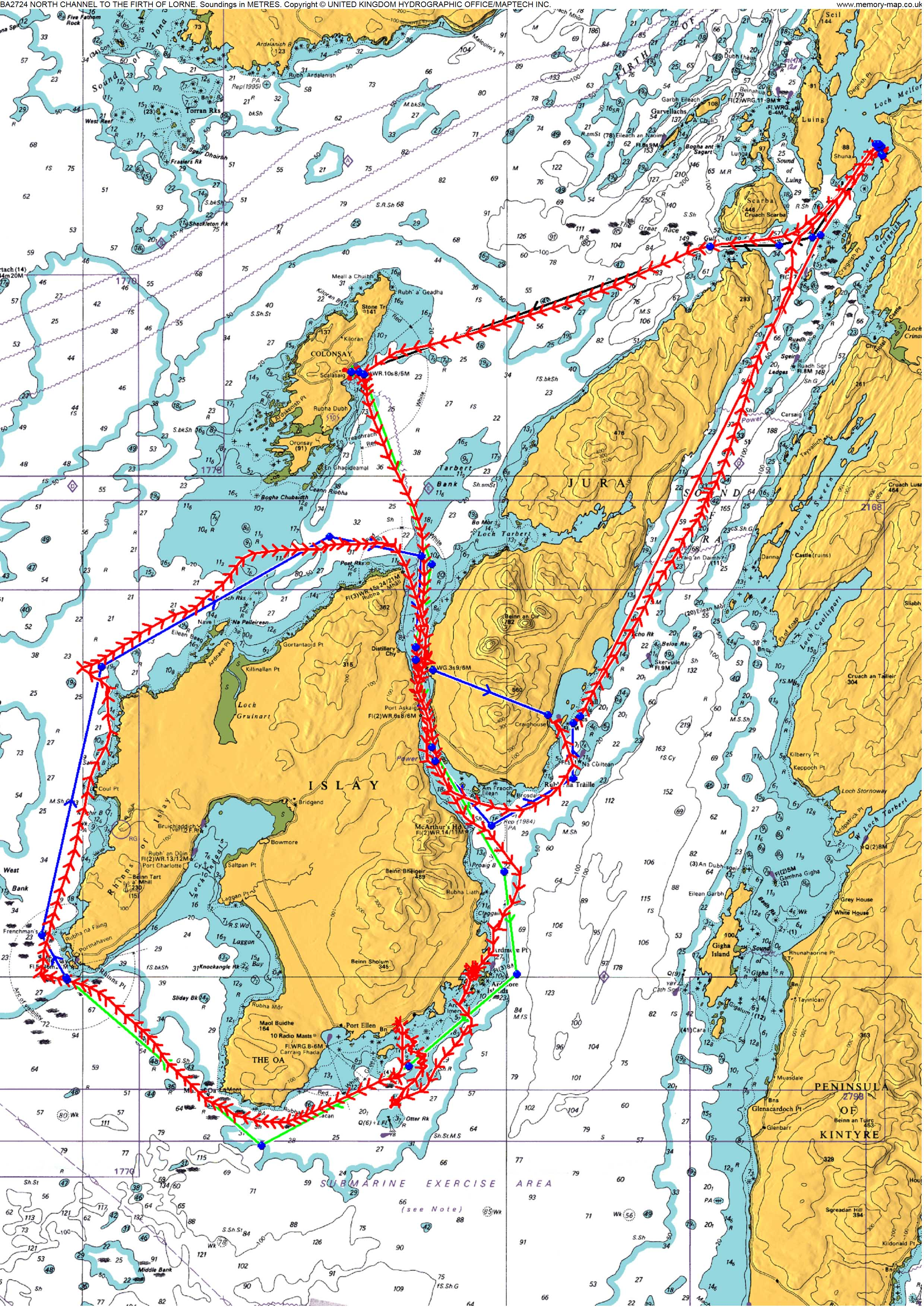 Isla and Jura circumnav image
